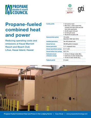 Propane-fueled combined heat and power - Propane Education ...