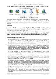 Informe Técnico ENFEN; noviembre - 2012 - Imarpe
