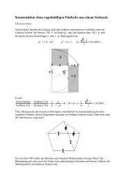 Konstruktion eines regelmäßigen Fünfecks aus einem Sechseck