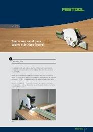 Serrar una canal para cables eléctricos (acero) - Festool