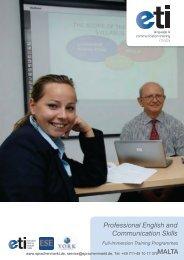 Professional English and Communication Skills - Sprachenmarkt.de