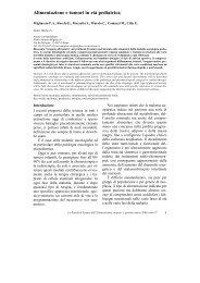 1_Alimentazione e tumori in età pediatrica - FOSAN