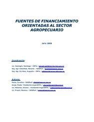 fuentes de financiamiento orientadas al sector agropecuario