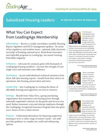Subsidized Housing Leaders: What You Can Expect from ...