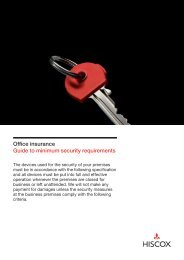 Guide to minimum security requirements - Hiscox