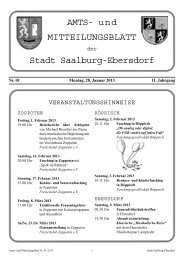 Nr. 01-2013 - Stadt Saalburg-Ebersdorf