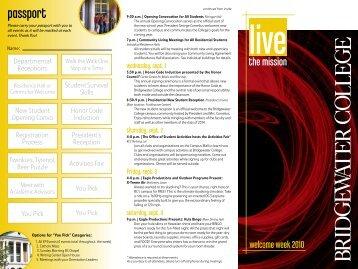 Week passport - Home - Welcome - Bridgewater College