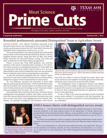 Prime Cuts Current Edition – Summer-Fall 2012 - Department of ...