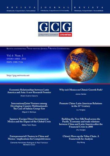 Vol. 6 Num. 1 - GCG: Revista de Globalización, Competitividad y ...