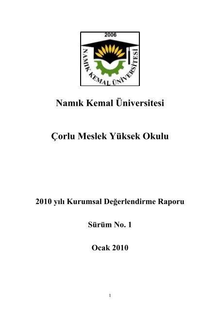 Namik Kemal Universitesi Corlu Meslek Yuksek Okulu