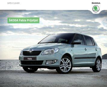 1300877 Prijslijst SKODA.indd - Fleetwise