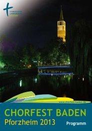 Programm im Detail - Chorfest Baden