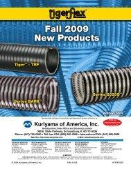 Fall 2009 New Products - Kuriyama of America