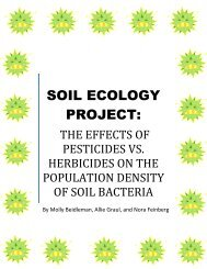 he Effects of Pesticides vs. Herbicides on the Population Density of ...