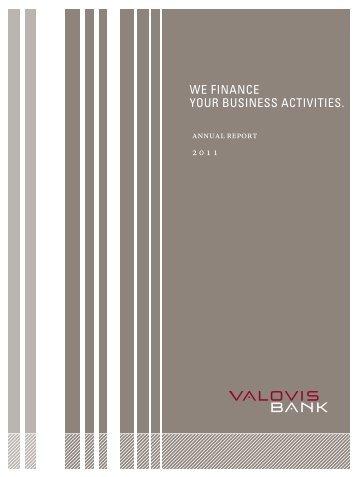 We finance your Business activities. - Valovis Bank - Startseite