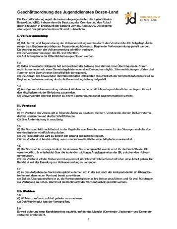 Geschäftsordnung JBL