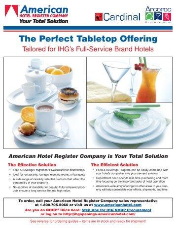 F&B For IHG Full Service Brands Brochure - American Hotel ...