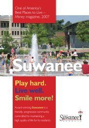 Suwanee Brochure final.indd - Suwanee, Georgia