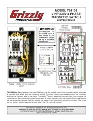 model t24103 2 hp 230v 3-phase magnetic switch - Grizzly.com
