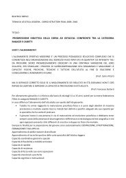 Didattica della corsa ad ostacoli - Fidal Piemonte