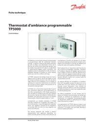 Thermostat d'ambiance programmable TP5000 - Danfoss