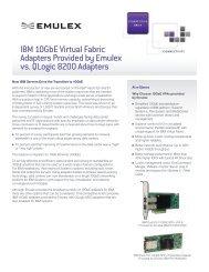 IBM 10GbE Virtual Fabric Adapters Provided by Emulex vs. QLogic ...