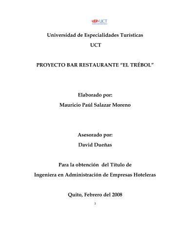 Plan de negocios para el restaurante for Proyecto de restaurante pdf