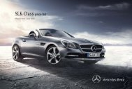 SLK-Class Price List June 2013 (1.35 MB) - Mercedes-Benz (UK)