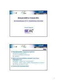 interopérabilité nteropérabilité et ingénierie système - LGI2P