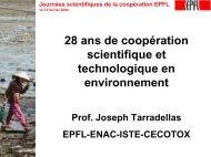 Journées scientifiques de la coopération EPFL - Cooperation at EPFL