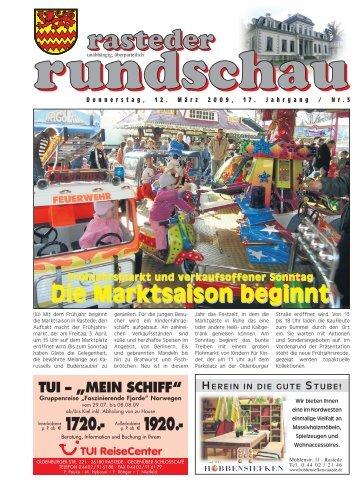 rasteder rundschau, Ausgabe März 2009