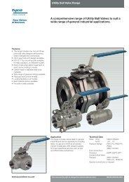 Tyco Fig.110-190 ball valves datasheet - Askalon