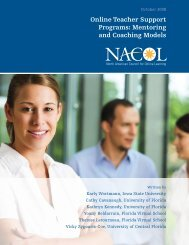 Online Teacher Support Programs: Mentoring and ... - iNACOL