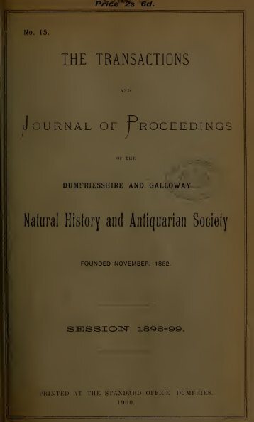 Vol 15 - Dumfriesshire & Galloway Natural History and Antiquarian ...