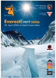 Everest-Events - Swiss Foundation for Alpine Research