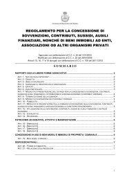 regolamento per la concessione di sovvenzioni, contributi, sussidi ...