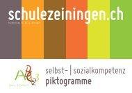 Piktogramme - Schule Zeiningen