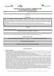 contrato tipo de custodia y administración de instrumentos financieros