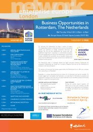 Business Opportunities in Rotterdam, The Netherlands - London ...