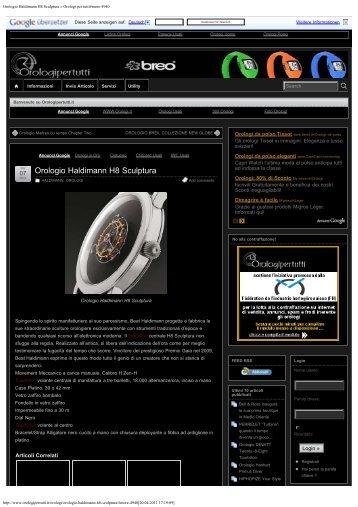 Orologio Haldimann H8 Sculptura » Orologi per tutti#more-4940