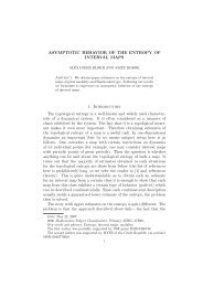 ASYMPTOTIC BEHAVIOR OF THE ENTROPY OF INTERVAL MAPS ...