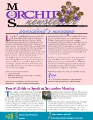 president's message - Maryland Orchid Society