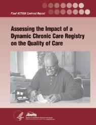Assessing the Impact of a Dynamic Chronic Care Registry on the ...