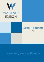 Wagener Edition - Zeller Reprints - Ars