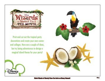 Print and cut out the tropical party decorations and ... - Disney Channel
