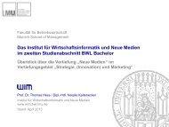 Schwerpunkt Neue Medien - Institut für Wirtschaftsinformatik und ...