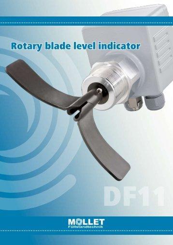 Rotary blade level indicator