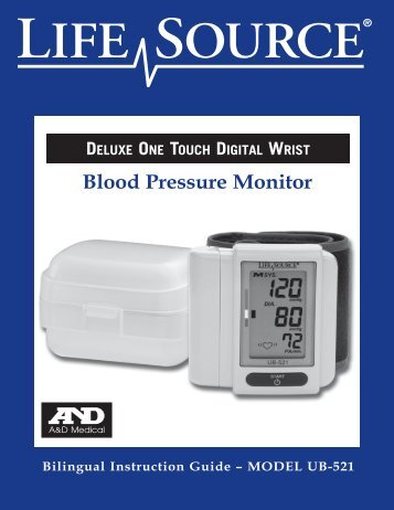 A&D Medical UB521 Wrist Blood Pressure Monitor Owner's Manual