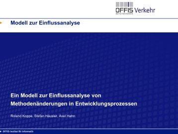 Modell zur Einflussanalyse Ein Modell zur Einflussanalyse von ...