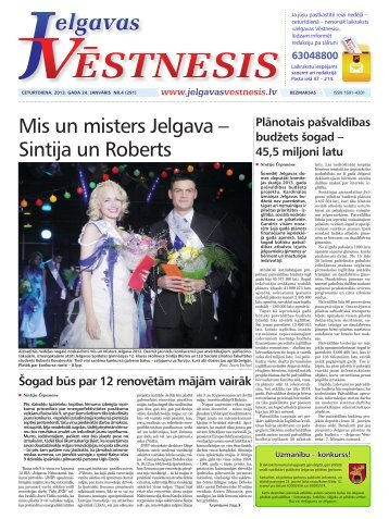 2013.gada 24.janvāris Nr.4(291) - Jelgavas Vēstnesis